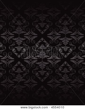 Dark Seamless Damask Pattern