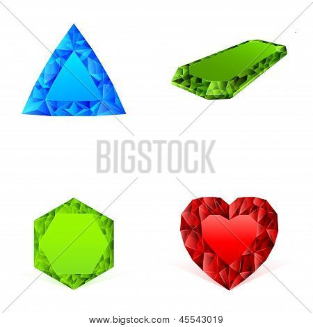 Diamonds In Different Colors Set
