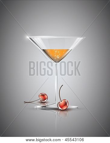 Cocktail with cherries