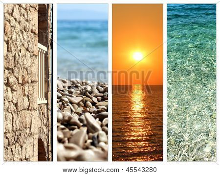 Collage Of Summer Holidays Images