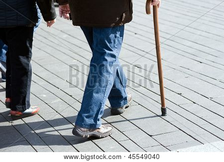 Elderly man walking