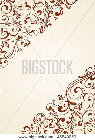 Background With Brown Pattern