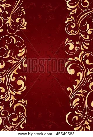 Background With Gold Vertical Pattern