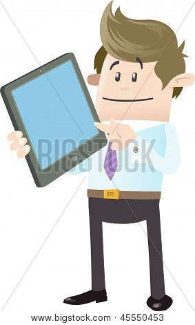 Business Buddy With Tablet Computer