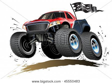 Cartoon Monster Buggy