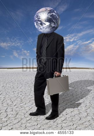 Stock Photo: A Head For Global Business Concerns