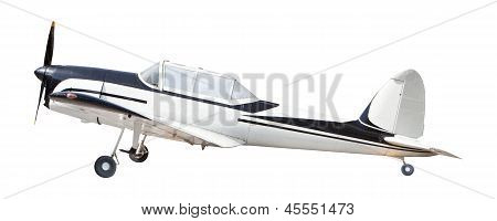 Old Classic Plane Isolated White