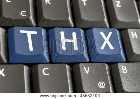 Abbreviation Thx On Computer Keyboard