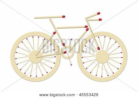 Bicycle Made Of Matches