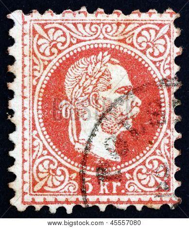 Postage Stamp Austria 1872 Franz Josef, Emperor Of Austria