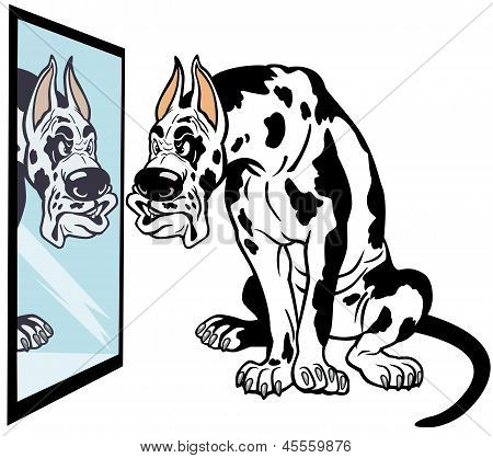 Cartoon Great Dane Dog