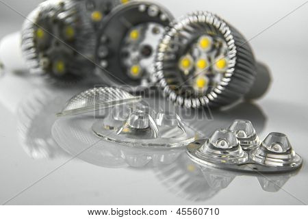 Coverslips And Optics Of Open Led Bulbs