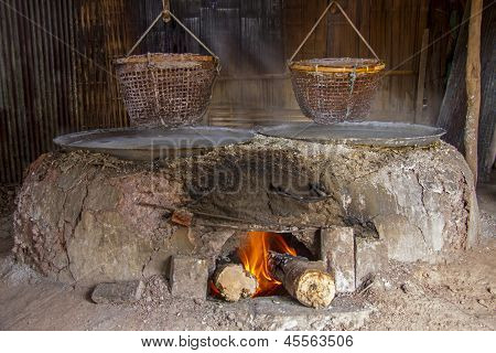 Stove Use Produce Salt