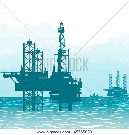 Oil rigs at sea-1