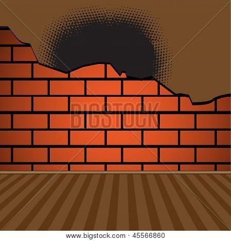 Gebrochene Mauer