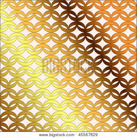 Gold Chain link Mesh Background