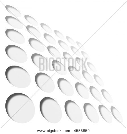 Grid Of Grey Circles