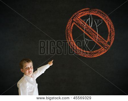 Pointing Boy Business Man With  No Bombs War Pacifist Sign