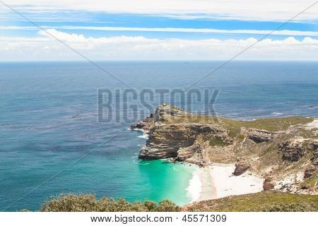 Cape Of Good Hope. Cape Peninsula Atlantic Ocean. Cape Town. South Africa View From Cape Point