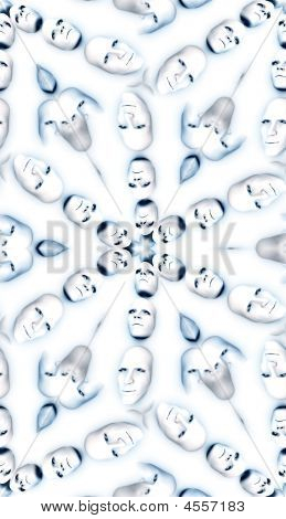 Faces Pattern Background