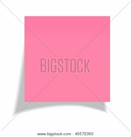 Vector red note paper