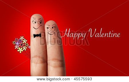 a finger couple in love
