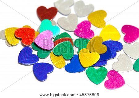 Colorful Confetti Hearts