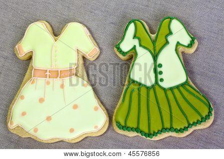 Iced fashion cookies.