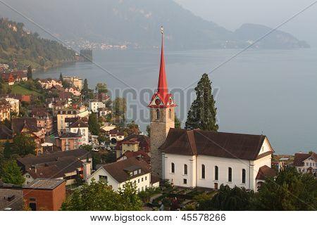 Switzerland Lake In Lucerne Canton. Village - Weggis