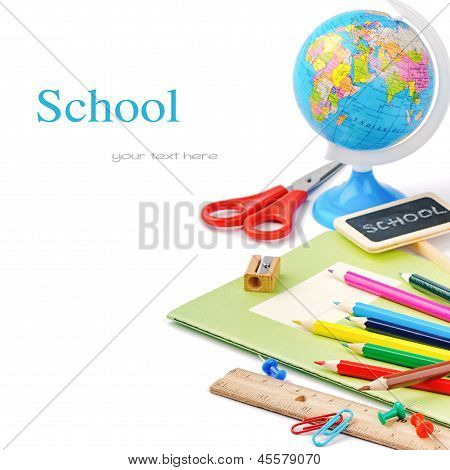 Colorful School Supplies