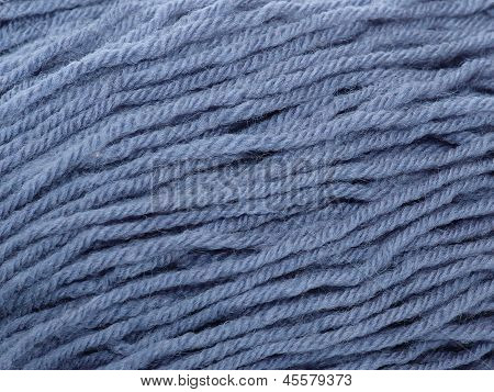 Skein Of Grey Woollen Yarn