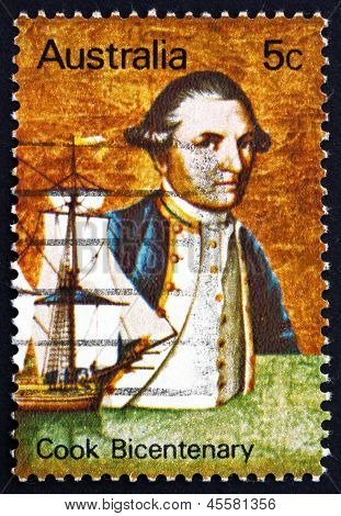 Briefmarke Australien 1970 Captain James Cook und Endeavour