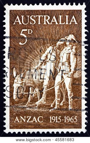 Postage Stamp Australia 1963 Simpson And His Donkey