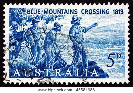Postage Stamp Australia 1963 Crossing Of The Blue Mts.