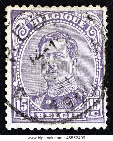 Postage Stamp Belgium 1915 King Albert I Of Belgium