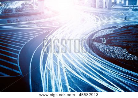 The Light Trails On The Steet