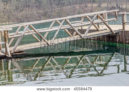 Wooden drawbridge