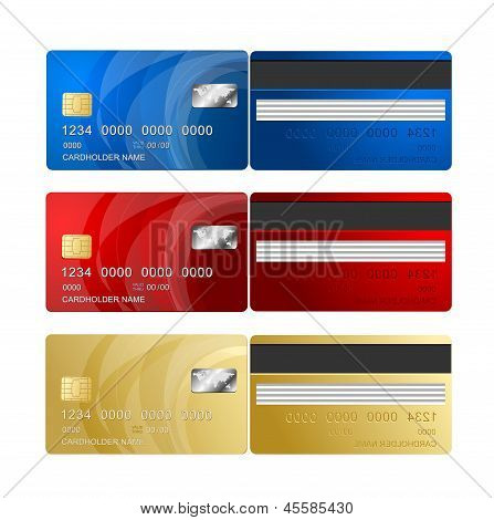 Vector Credit Card two sides