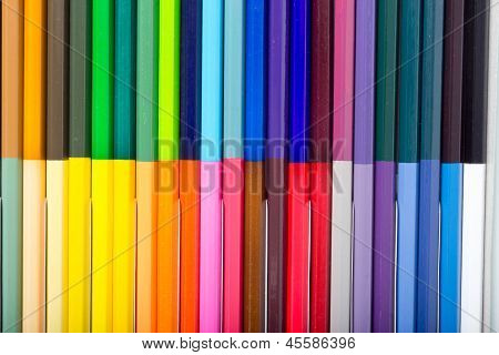 Many Color Of Color Pencils