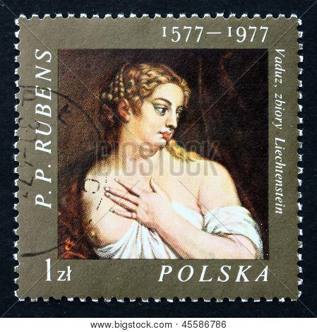 Postage Stamp Poland 1977 Venus, Painting By Rubens
