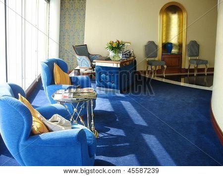 Inside of the suite in Burj Al Arab hotel  in Dubai