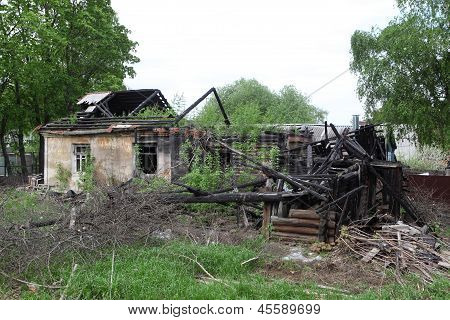 Burned-down House