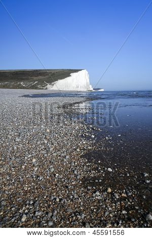 Seven Sisters Chalk Cliffs Pebble Beach