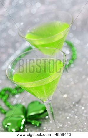 Bright Green Cocktails