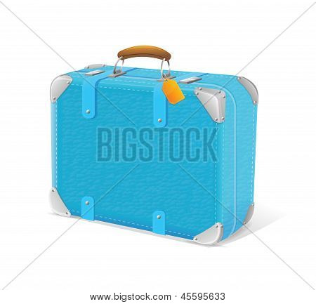 illustration of blue trawel suitcase