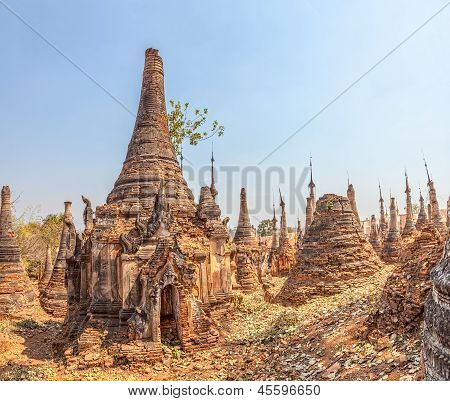 Ancient Stupas at Indein Inle Lake