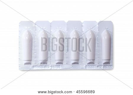 Pack Of Suppositories With Clipping Path