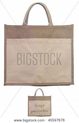 Natural Shopping Bag With Clipping Path