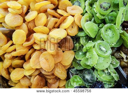 Dried Apricot And Kiwi Fruit