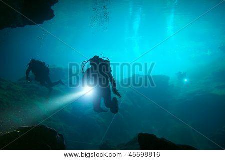 Cenote Unterwasser